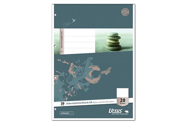 Perforierte Notizblöcke mit Deckblatt