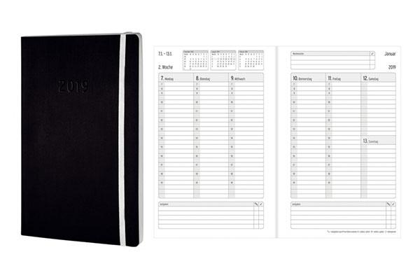Buch- und Spiralbuchkalender