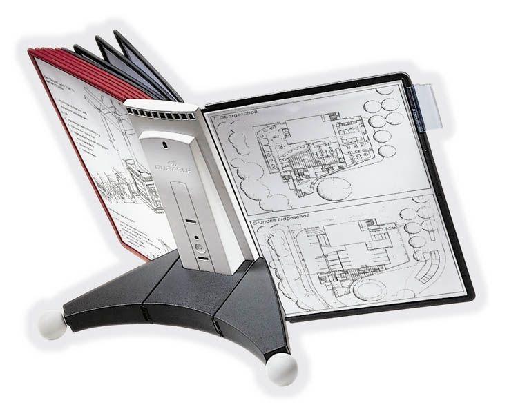 DURABLE Sichttafelständer Modultischständer für 10 Sichttafeln DIN A4 Kunststoff