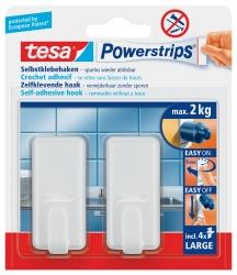 Powerstrips® Systemhaken - ablösbar, classic, Tragfähigkeit 2 kg, chrom