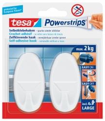 Powerstrips® Systemhaken - ablösbar, oval, weiß, Tragfähigkeit 2 kg