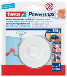 Powerstrips® Deckenhaken - ablösbar, Tragfähigkeit 500g, rund, weiß