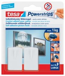 Powerstrips® Bilder-Nagel - ablösbar, Tragfähigkeit 1 kg, Rechteck, weiß