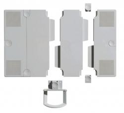 Erweiterungsplatten-Set für Telefonschenkarm - lichtgrau