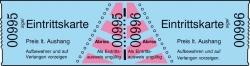 Eintrittskarten in Rollen, blau, fortlaufend nummeriert, 60x30 mm, 1000 Stück
