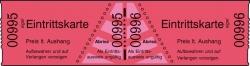 Eintrittskarten in Rollen, rot, fortlaufend nummeriert, 60x30 mm, 1000 Stück