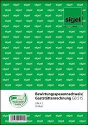 Bewirtungsspesennachweis/Gaststättenrechnung - A5, 2seitig bedruckt, MP, 50 Blatt