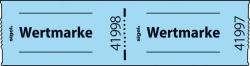 Gutscheinmarken-Rollen »Wertmarke« - blau, fortlaufend nummeriert, 60x30 mm, 500 Stück