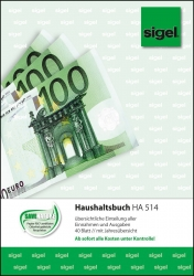 Haushaltsbuch mit Klammerheftung - A5, 40 Blatt