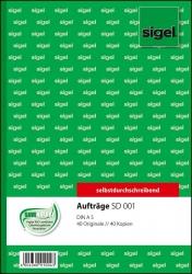 Aufträge - A5, 1. und 2. Blatt bedruckt, SD, MP, 2 x 40 Blatt