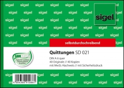 Quittungen mit Sicherheitsdruck - A6 quer, 1. und 2. Blatt bedruckt, SD, MP, 2 x 40 Blatt
