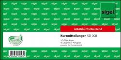 Kurzmitteilungen - 1/3 A4 quer, 1. und 2. Blatt bedruckt, SD, MP, 2 x 40 Blatt
