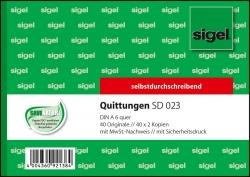 Quittungen mit Sicherheitsdruck - A6 quer, 1. und 2. Blatt bedruckt, SD, MP, 3 x 40 Blatt
