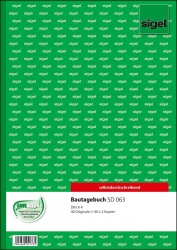 Bautagebuch - A4, 1., 2. und 3. Blatt bedruckt, SD, MP, 3 x 40 Blatt