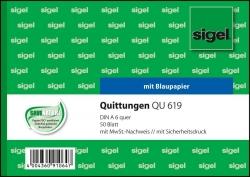 Quittungen mit Sicherheitsdruck - A6 quer, MP, BL, 50 Blatt