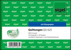 Quittungen mit Sicherheitsdruck - A6 quer, MP, BL, 2 x 50 Blatt