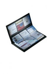 Visitenkarten-Sammler, schwarz, matt, mit selbstklebendem Register