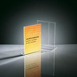 Tischaufsteller, gerade, glasklar, für A6