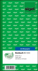Bonbuch - Kellner-Nr. 3, 360 Abrisse,  BL, gelb, 105x200 mm, 2 x 60 Blatt