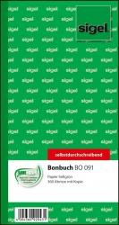 Bonbuch - o. Kellner-Nr., 360 Abrisse, SD, hellgrün, 105x200 mm, 2 x 60 Blatt
