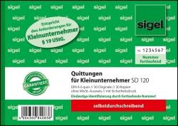 Quittung für Kleinunternehmer ohne MwSt.-Ausweis - A6, SD, 2 x 30 Blatt