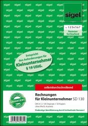 Rechnung für Kleinunternehmer ohne MwSt.-Ausweis - A5, SD, 2 x 30 Blatt