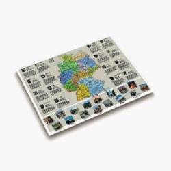 Landkarten-Schreibunterlage - 53 x 40 cm, DEUTSCHLANDKARTE