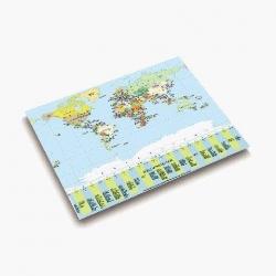 Landkarten-Schreibunterlage - 53 x 40 cm, WELTKARTE POLITISCH