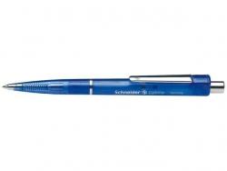 Druckkugelschreiber Optima - M, blau (dokumentenecht), blau-transparent