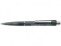 Druckkugelschreiber Optima - M, schwarz (dokumentenecht), schwarz-transparent