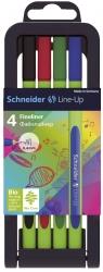 Fineliner Line-Up - 0,4 mm, 4 Stück, sortiert