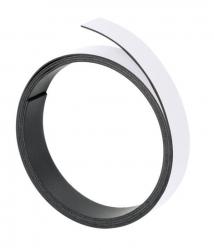 Magnetband, 100 cm x 10 mm, 1 mm, weiß