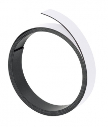 Magnetband, 100 cm x 15 mm, 1 mm, weiß