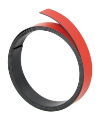 Magnetband, 100 cm x 15 mm, 1 mm, rot