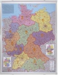 Kartentafel Deutschland, magnethaftend, beschreibbar,  100 x 140 cm