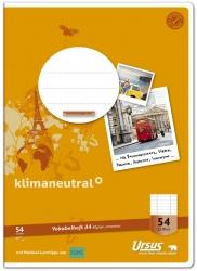 Vokabelheft LIN54 A4 32 Blatt 80g/qm 9mm liniert mit 2 MST