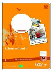 Vokabelheft LIN54 A4 40 Blatt 80g/qm 9mm liniert mit 2 MST