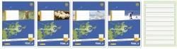 Heft LIN1 A5 16 Blatt 80g/qm 5/5/5mm liniert farbig