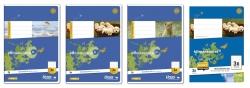 Heft LIN3R A5 16 Blatt 80g/qm 14 Doppellinien mit Rand
