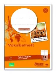 Vokabelheft LIN53 A6 32 Blatt 80g/qm liniert mit 1 MST
