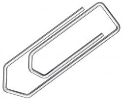 Briefklammer, Metall, 32 mm, verzinkt, Schachtel mit 100 Stück