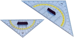 Geometrie-Dreieck mit Griff, klein 160 mm