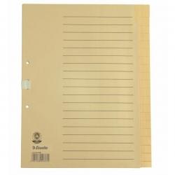 Register - blanko, A4, Papier, 20 Blatt, chamois