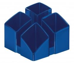 Schreibtisch-Köcher SCALA - 4 Fächern, blau