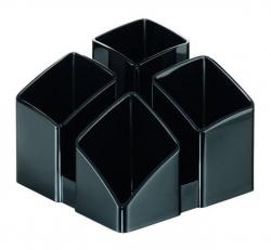 Schreibtisch-Köcher SCALA - 4 Fächern, schwarz