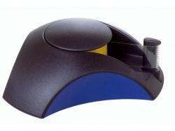 Klebefilm-Abroller DELTA, für Klebeband 33 m x 15 mm, schwarz-blau