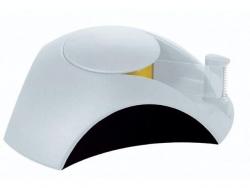 Klebefilm-Abroller DELTA, für Klebeband 33 m x 15 mm, lichtgrau-schwarz