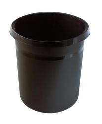 Papierkorb GRIP, 18 Liter, rund, 2 Griffmulden, extra stabil, braun
