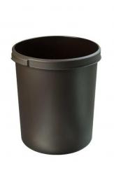 Papierkorb 30 Liter, rund, 2 Griffmulden, extra stabil, braun
