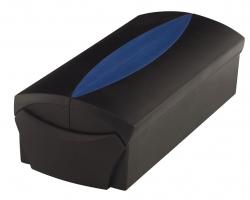 Visitenkartenbox VIP-Set - für 500 Visitenkarten, Box+Etui, schwarz-blau